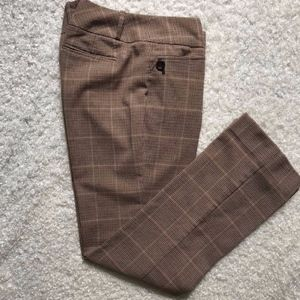 The Limited Cassidy Brown Plaid Pants